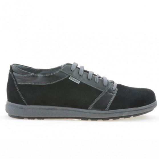 Men sport shoes 723 black+ velour black
