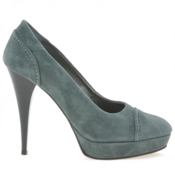 Women stylish, elegant shoes 1082 gray antilopa