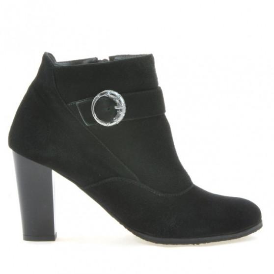 Women boots 1123 black+black antilopa