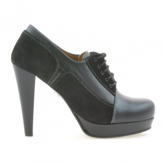 Women stylish, elegant shoes 1093 black combined