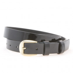 Women belt 01m patent black