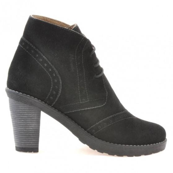 Women boots 3230 black velour