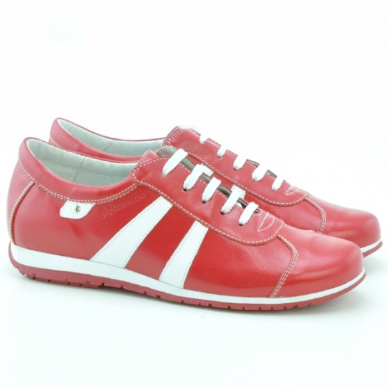 Pantofi sport dama 695 rosu+alb
