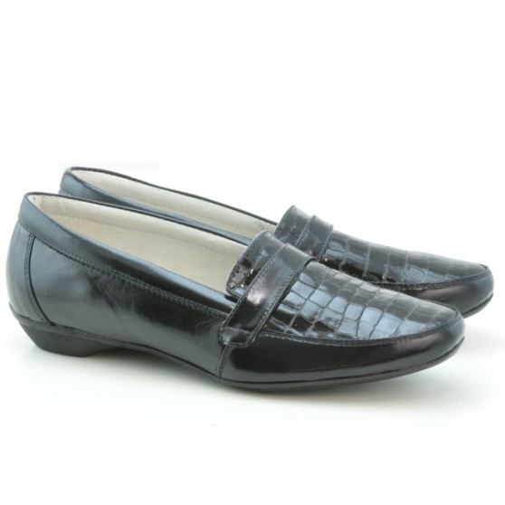Women casual shoes (large size) 679m croco patent black