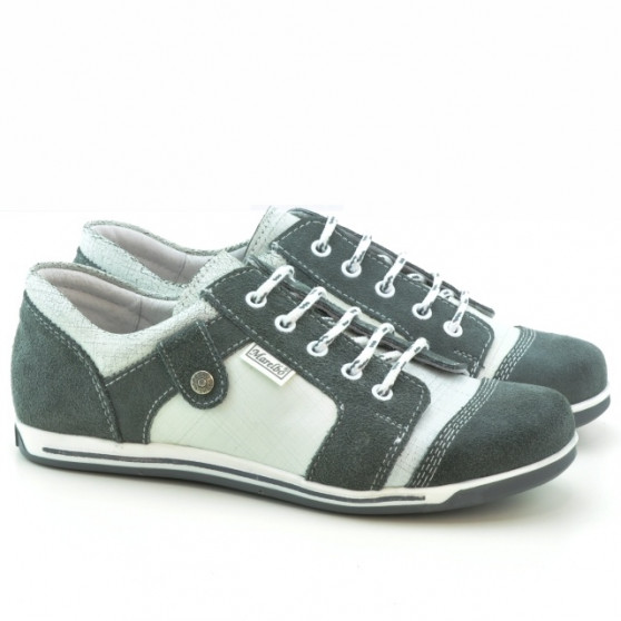 Women sport shoes 143-1 bufo gray+white