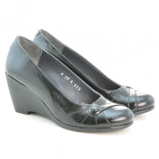Pantofi casual dama 613 lac negru