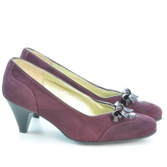 Women stylish, elegant shoes 1064 bordo antilopa