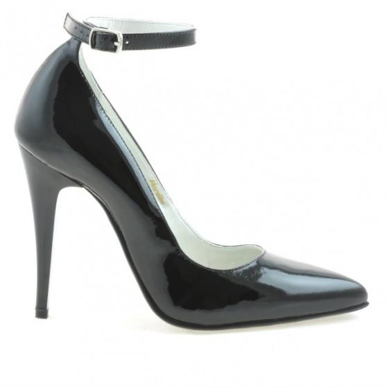 Women stylish, elegant shoes 1247 patent black