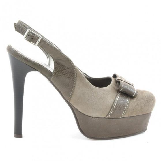 Sandale dama 1096 nisip antilopa combinat