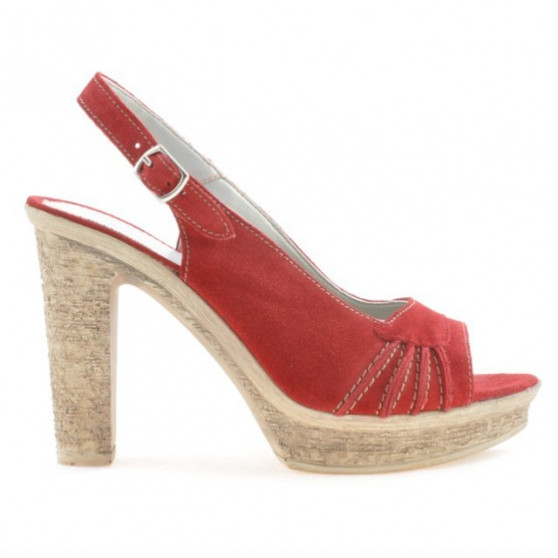 Women sandals 597 red velour