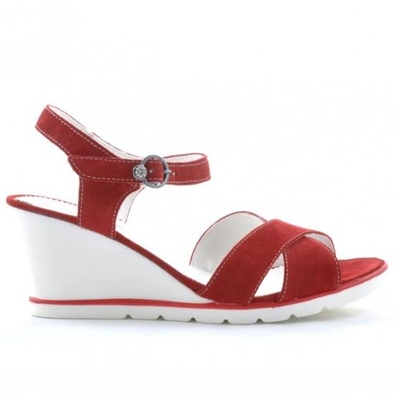 Sandale dama 5007 rosu velur