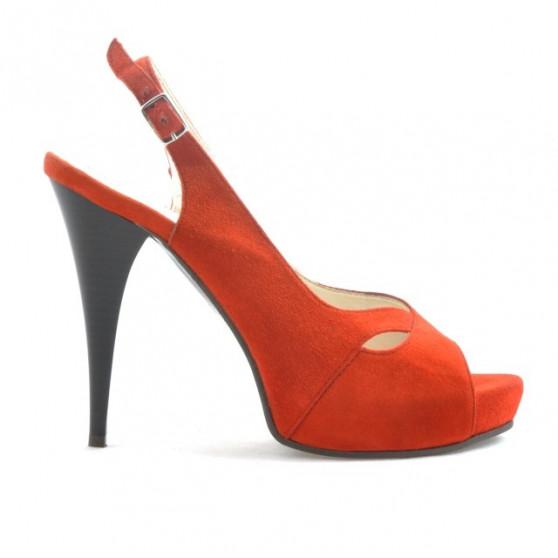 Women sandals 1080 red antilopa