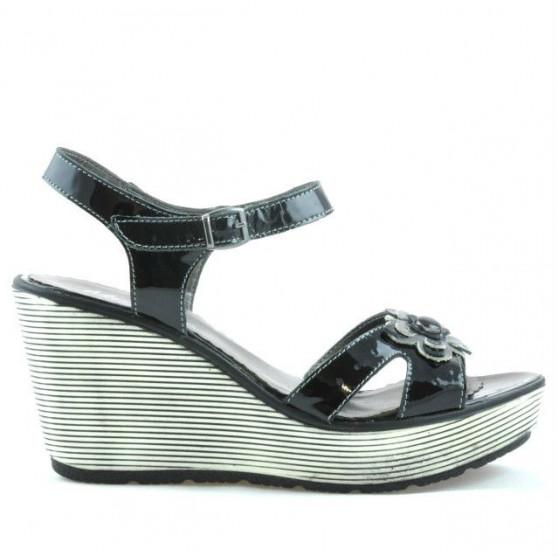 Women sandals 5006 patent black
