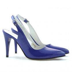 Women sandals 1249 patent blue