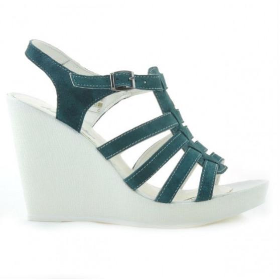 Women sandals 575 green velour