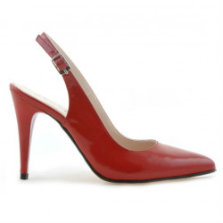 Sandale dama 1249 lac rosu satinat