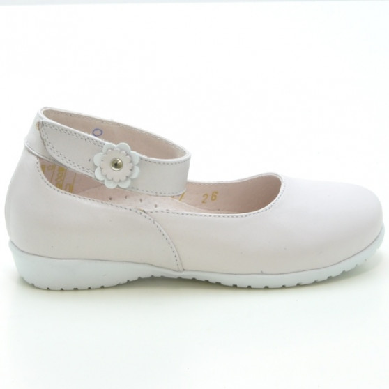 Small children shoes 17c beige pearl
