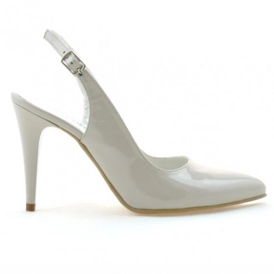 Women sandals 1249 patent beige pearl