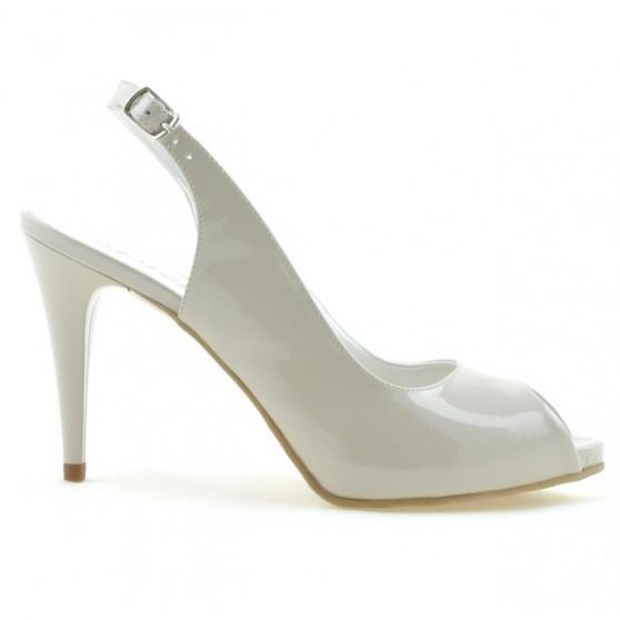 Women sandals 1250 patent beige pearl