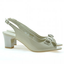 Women sandals 1251 patent beige