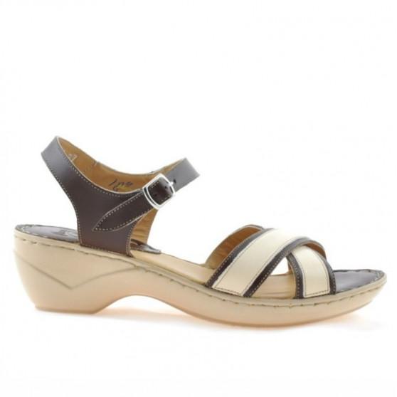 Women sandals 501 brown+beige