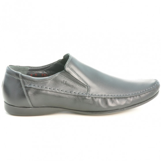 Men stylish, elegant, casual shoes 861 black
