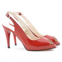 Women sandals 1250 patent red satinat