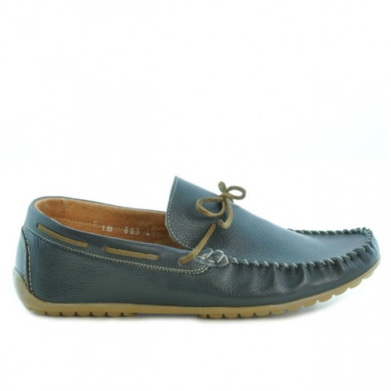 Men loafers, moccasins 863 biz black