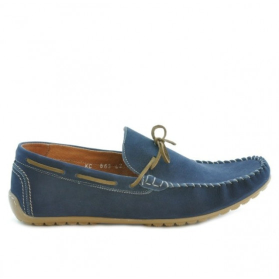 Men loafers, moccasins 863 bufo indigo