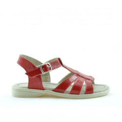 Small children sandals 53c patent red satinat