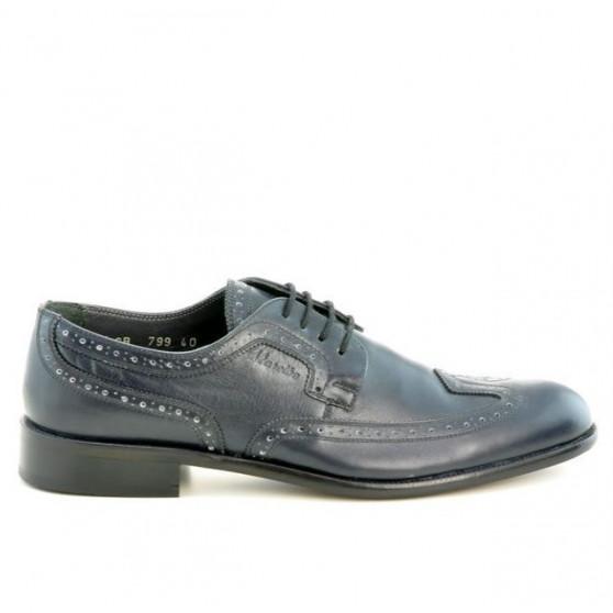 Men stylish, elegant shoes 799 indigo