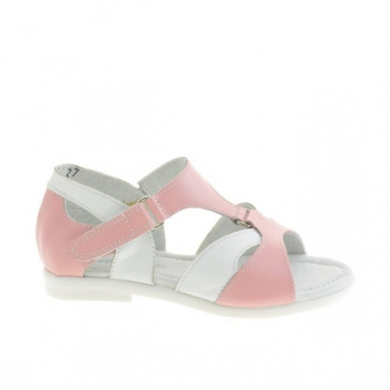 Small children sandals 09c pink+white