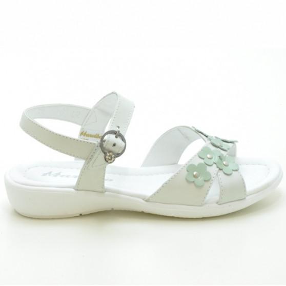 Children sandals 523 white+lime