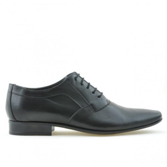 Men stylish, elegant shoes 798 black