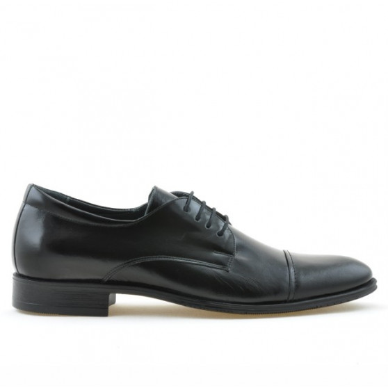 Men stylish, elegant shoes 785 patent black