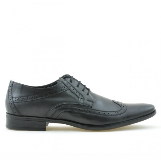 Men stylish, elegant shoes 797 black