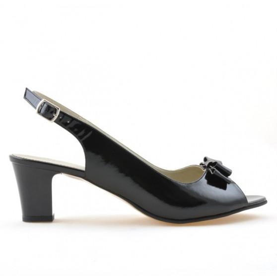 Women sandals 1251m patent black satinat