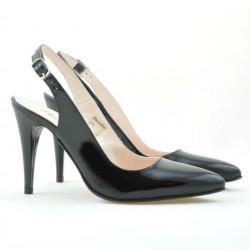 Women sandals 1249 patent black
