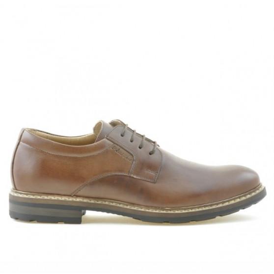 Men stylish, elegant, casual shoes 755 brown