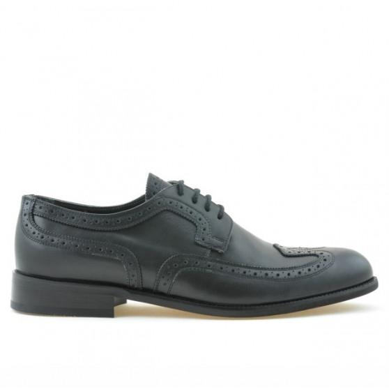 Men stylish, elegant shoes 799 black