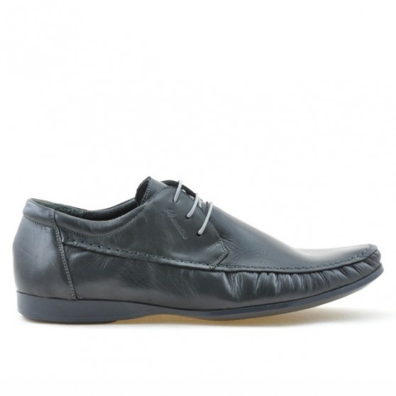 Men stylish, elegant, casual shoes 862 gray