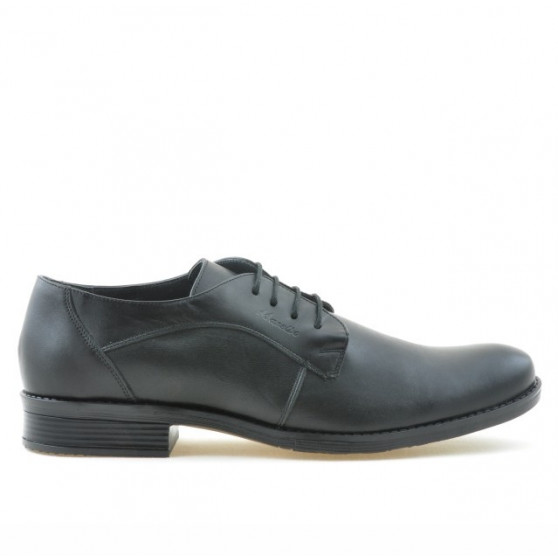 Men stylish, elegant shoes 731 black