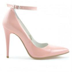 Women stylish, elegant shoes 1247 patent pink