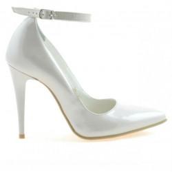 Women stylish, elegant shoes 1247 patent beige pearl