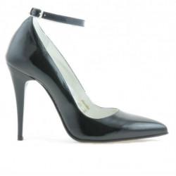 Women stylish, elegant shoes 1247 patent black satinat