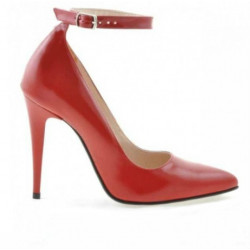 Pantofi eleganti dama 1247 lac rosu