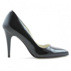 Women stylish, elegant shoes 1246 patent black satinat