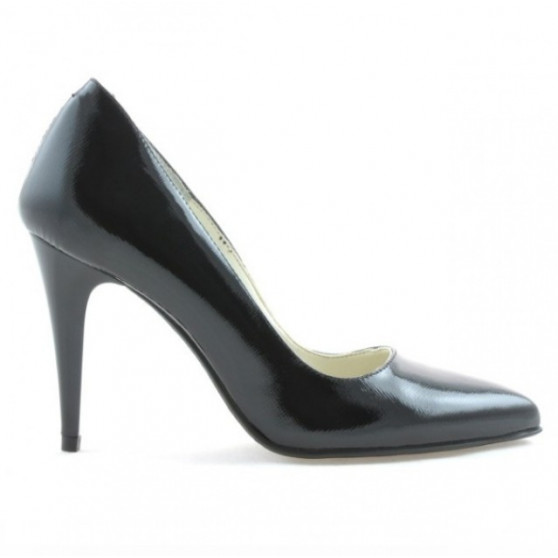 Pantofi eleganti dama 1246 lac negru satinat