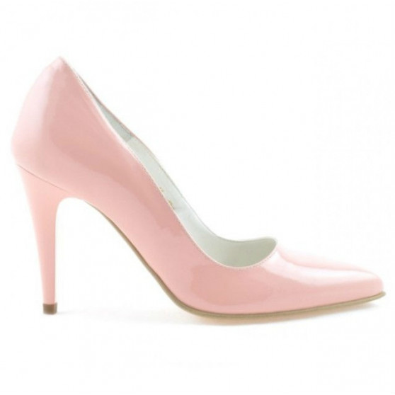 Women stylish, elegant shoes 1246 patent pink