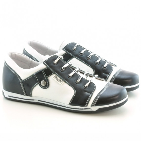 Women sport shoes 143-1 black+white